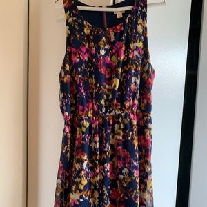 Xhilaration navy with pink floral dress